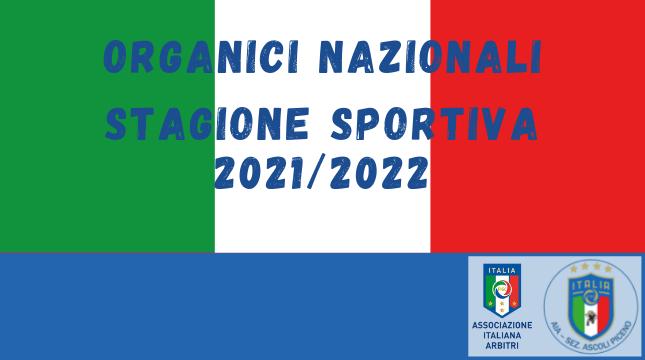Organici Nazionali 2021